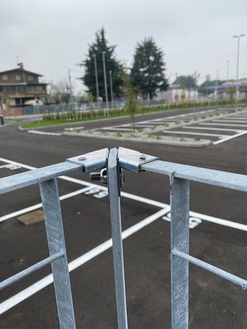 Sterope recinzione in grigliato Nuovadefim Orsogril per il polo logistico Makita
