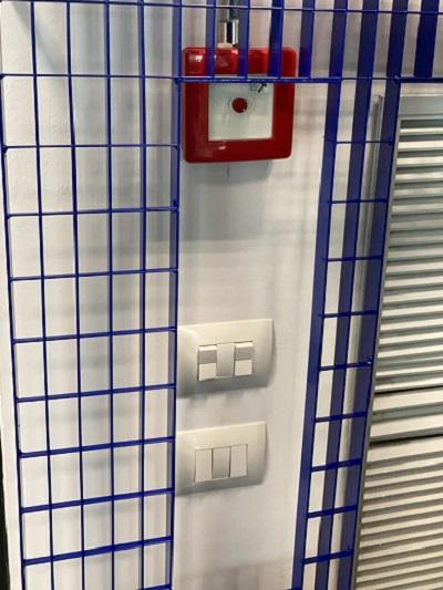 Utilior: dettaglio del grigliato installato alle pareti