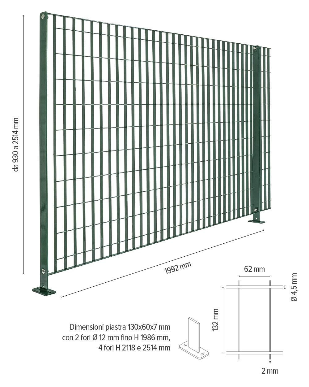 sterope info tecniche recinzione in grigliato