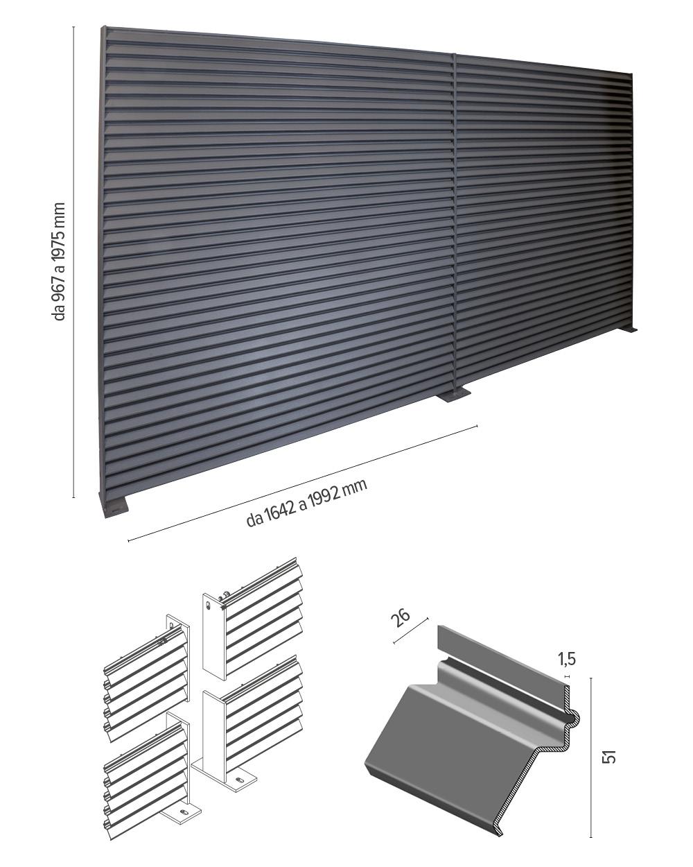 Talia ventus screen - info tecniche
