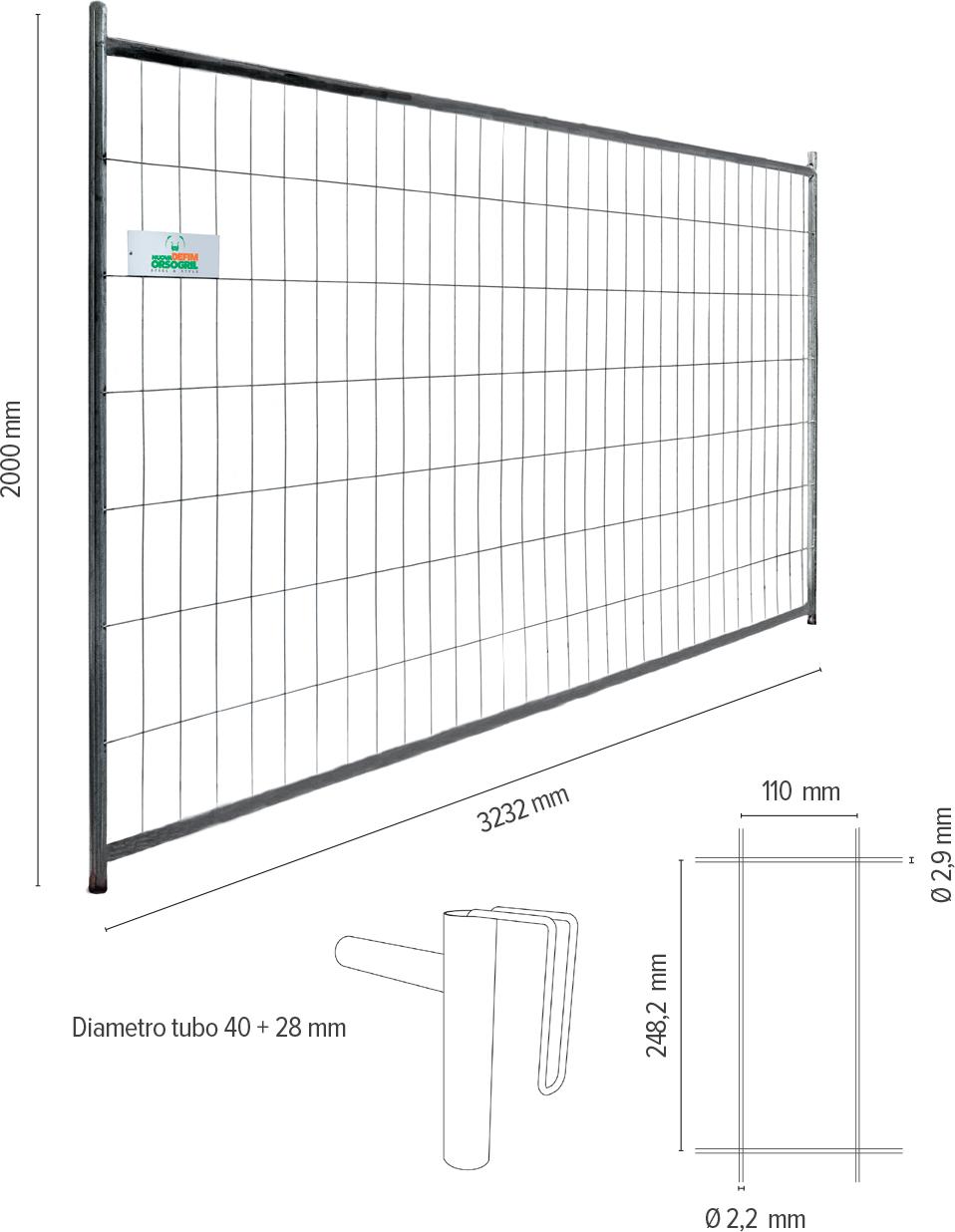 Defender HD - info tecniche recinzioni per cantieri