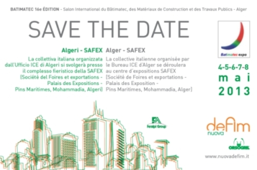 Save the Date: Nuova Defim Orsogril al Batimatec 2013