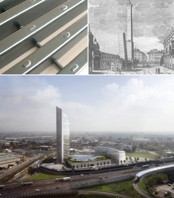 I grigliati di Nuova Defim a marchio Orsogril per la più alta struttura della cittadina emiliana