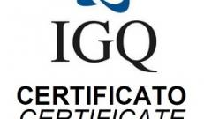 Rinnovo certificazione qualità IGQ e IQNet