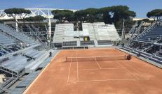 Vista d'insieme del Temporary Flexible Stadium con i grigliati Nuova Defim Orsogril