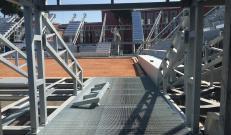 Temporary Flexible Stadium: avanzamento dei lavori di posa del grigliato Potissimum Edilizia