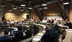 Gli agenti riuniti al meeting aziendale