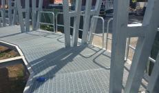Potissimum edilizia per le pavimentazioni sotto le tribune del Temporary Flexible Stadium