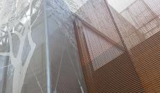 Energy Park di Vimercate: giochi di luce e ombra della struttura a lamelle in corten di Nuovadefim Orsogril