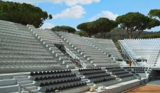 Potissimum Edilizia: le tribune del Temporary Flexible Stadium a progetto finito