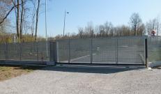 La recinzione Talia coordinata al cancello d'ingresso certificato CE