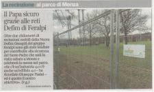 Defender HD, recinzione la sicurezza di Papa Francesco a Monza