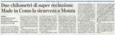 Defender HD, recinzione per messa in sicurezza arrivo di Papa Francesco a Monza