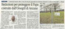 DEFENDER HD, recinzioni Orsogril per proteggere il Papa