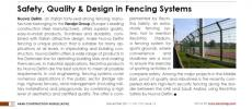 Safety, Quality & design in Fencing systems