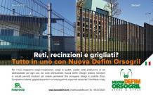 Reti, recinzioni e grigliati: le soluzioni di Nuova Defim Orsogril