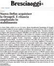 Nuova Defim acquisisce la Orsogril e rilancia ampliando lo stabilimento