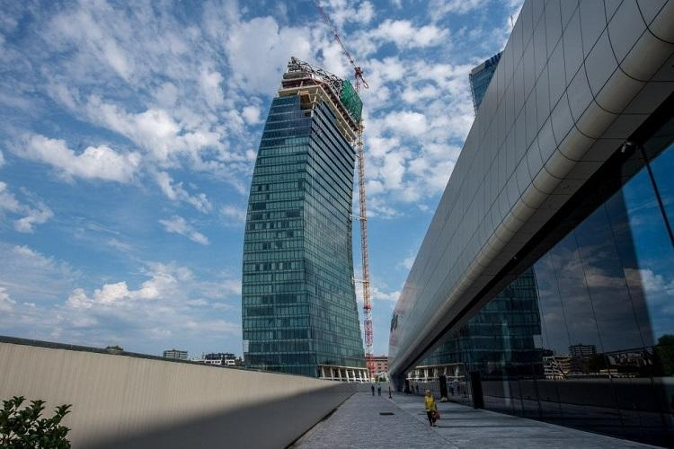 Utilior   press-locked grating for Libeskind PwC Tower in Milan's CityLife district