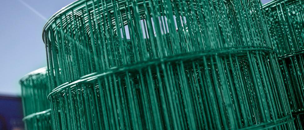 Defim Plast Rollen Detail aus kunststoffbeschichtetem Drahtgitter