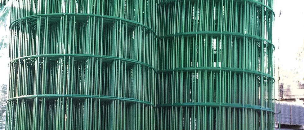 Defim Plast  Rolle aus plastifiziertem Drahtgitter