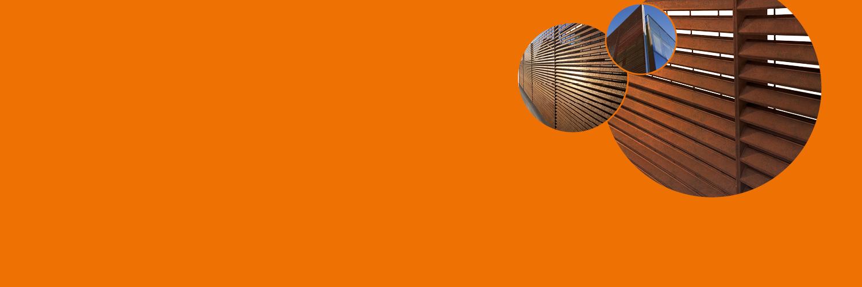 Particolare di TaliAlive recinzione e rivestimento di facciata lamellare in COR-TEN